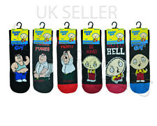 6-11 ADULT MEN'S BOY'S FAMILY GUY SOCKS CARTOON NOVELTY STEWIE PETER GRIFFIN