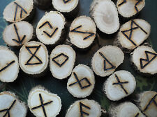 Ivy Elder Futhark Runes - with Bag & Information sheet- Pagan, Wicca, Norse