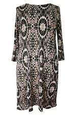 NEW Ladies Plus Size Brown Abstract Tunic Dress - 16, 18, 20, 22-24 & 26-28