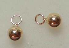Seemless 8mm Hollow Balls INTERCHANGEABLE Earring Charms 14K Yellow Gold Filled