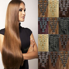 10inch-24inch Real Clip in 100% Real Human Hair Extensions Full Head 7/8pc SU930
