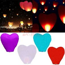 1/5/10pcs Paper Chinese Lanterns Sky Fly Candle Wishing Lamp Light Wedding Party