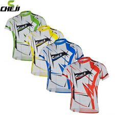 CHEJI Summer Mens Cycling Jersey Clothing Bike Sports Bicycle Short Sleeve Top