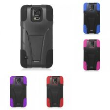 Hybrid Hard Soft Dual Layer Case Slim Armor Cover With KickStand For Phones