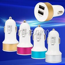 Dual 2.1A 2 Port USB Car Fast Charger Adapter Cable For iPhone 4 5 6 Samsung HTC