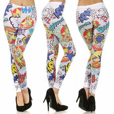 S M L Leggings Comic Cartoon Bam Cowgirl Full Length Long Skinny Stretch Pants