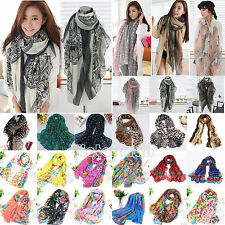 Ladies Women Long Soft Chiffon Scarf Wrap Large Silk Winter Shawl Stole Scarves