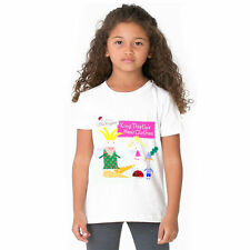 child girls ben and hollys little kingdom cotton summer t-shirt Tops Tee 1-12Y