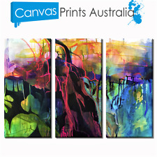 ABSTRACT STRETCHED CANVAS ART SET OF 3 PRINTS FRAME PRINT MORE IN OUR STORE