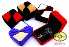 1/3/6/12/PCS knot bow VELVET BOXES For Jewelry Necklace/Pendant/Brooch Gift Box