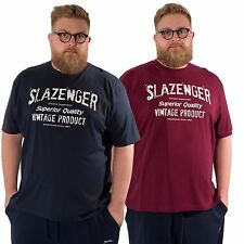 Slazenger Mens plus Size Short Sleeved King Casual Graphic Tee T Shirt Big Top