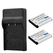 2x ENEL19 Battery 3.7V & Charger for Nikon Coolpix S3200 S3300 S4100 S4200 S4300