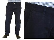 Genuine Lee Cooper Mens Navy Blue Chinos Jeans Slim Fit Cotton Trousers