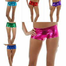 S M L Shorts Booty Hot Metallic Colors Liquid Club Sexy Stretch Mini New Women