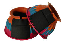 Harlequin Velcro Fastening Over Reach Boots Pony Cob Full Extra Bright Colours