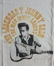 NWT Lucky Brand Johnny Cash 3/4 Slv Cream Graphic Football Tee Small, Med  L2049