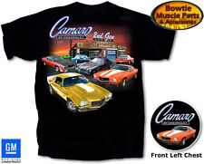 70 81 2ND GEN CAMARO T-SHIRT BLACK 72 73 74 75 76 77 78 79 80 81 MENS TEE SHIRT