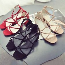 Fashion Women Hollow Sandals Sexy Ladies Open-toed Straps Buckle High-heel Shoes