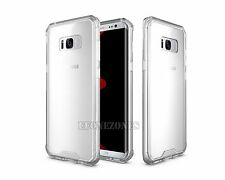 For Samsung S8/S8 Plus Shockproof Clear Hybrid Hard TPU Bumper Back Case Cover