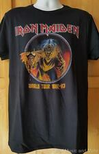 "IRON MAIDEN T-Shirt  ""82'-83' Tour""  Official/Licensed  M, L, XL, 2XL  NEW"