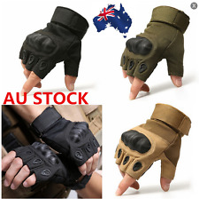 Tactical Gloves Fingerless Military Outdoor Hard Knuckle Half Finger Gloves
