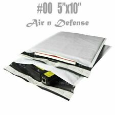 #00 5x10 Poly Bubble Padded Envelopes Mailing Mailers Shipping Bags AirnDefense