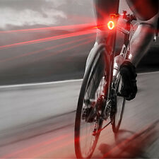 USB Rechargeable LED Bicycle Bike Cycling Front Rear Tail Light 5 Modes Lamp