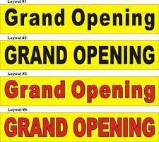 2ftX10ft Custom Printed Grand Opening Banner Sign, Yellow Background #1