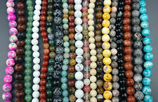 fashion gemstone beads round loose stone beads for jewelry making 6mm 8mm 50pcs