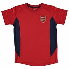 Arsenal FC Polyester T-Shirt Source Lab Juniors Red Football Soccer Top Tee