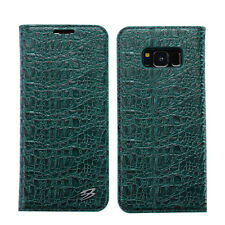 Crocodile Genuine Leather Magnetic Flip Cases Cover For Samsung Galaxy S8+ Plus