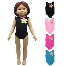 Handmade Flower One-piece Swimwear Clothes for 18'' American Girl Doll Dress up