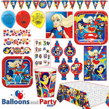 DC Super Hero Girls Birthday Party Tableware Decorations Supplies