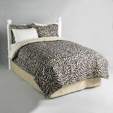 Zebra Wild Animal Print Bed In a Bag Comforter Sheet Set Twin King