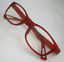 MT16 Stylish,Retro Red  Reading Glasses+Clear Case 30p Postage for Extra Pairs