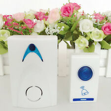 LED Wireless Chime Smart Door Bell Doorbell & Remote control 32 Tune Songs FJRK