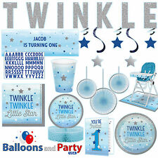 Twinkle Little Star Boy's 1st Birthday Party Supplies Tableware Decorations kit