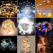 6/10/15/20m Solar Powered Warm White Copper Wire Outdoor String Fairy Light HT