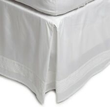 BRAND NEW CHARISMA BIANCA EMBROIDERED ALABASTER (WHITE) STITCHED DOT BEDSKIRT