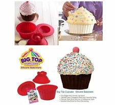 Giant Jumbo Mega Bigtop Birthday Cupcake Cup Cake Silicone Mould Bake Baking HT