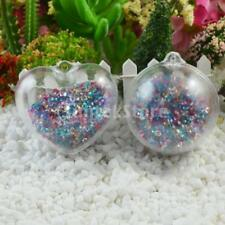Acrylic Unique Heart Pendant For Necklace Ball Key Hanging Ornaments DIY Making