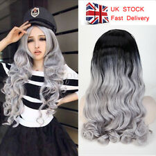 """14""""-30"""" Ombre Hair Wigs Synthetic Lace Front Bob Body Wave Silky Full Wig CF"""