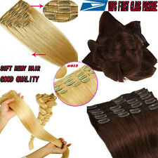 100% Real Thick Clip in Hair Extensions 8Pcs Straight Full Head Hair Extensions