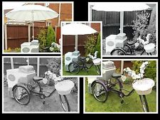 HIRE ONLY Stunning Vintage Ice Cream Tricycle.  Wedding Party Christening Fete