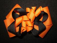 Halloween Korker Boutique Hair Bow Black Orange Fall Party Hairbow Costume Girls