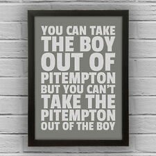 PITEMPTON - City of Dundee BOY/GIRL FRAMED WORD TEXT ART PICTURE POSTER