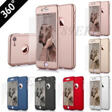 360° Full Body Front Back Protector Case For iPhone 5 6 7 Plus + TEMPERED GLASS