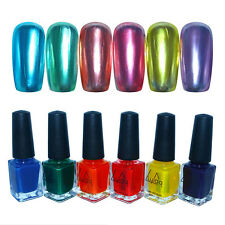 4Pcs/set Mirror Effect Nail Polish & Color Nail Polish & Top Coat & Base Coat