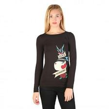 Love Moschino Clothing Women T-shirts Black 74783 Outlet BDX