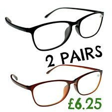 2 Pairs Retro Bendable TR90 Material Fashion Unisex 2017 Reading Glasses TN31